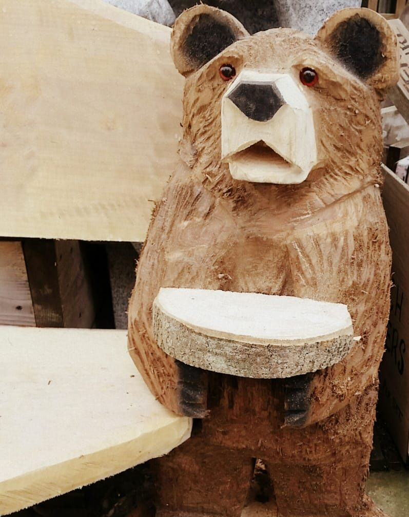 Cool Hand Carved Side Table Bear Garden Bench Creativecarmelina Interior Chair Design Creativecarmelinacom